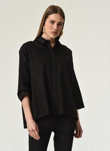 NGSTYLE NGSTYLE Kadın Baskılı Günlük Gömlek Siyah